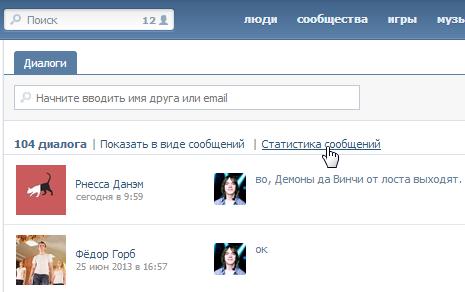 VKontakte Stats 4.3.6 – статистика личных сообщений ВКонтакте для Google Chrome