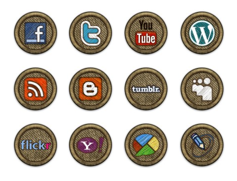 Иконки Social Media Icon Badges от Melissa Scroggins