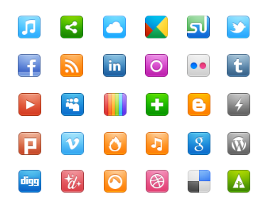Иконки Social Networking Icon Set от WPZOOM
