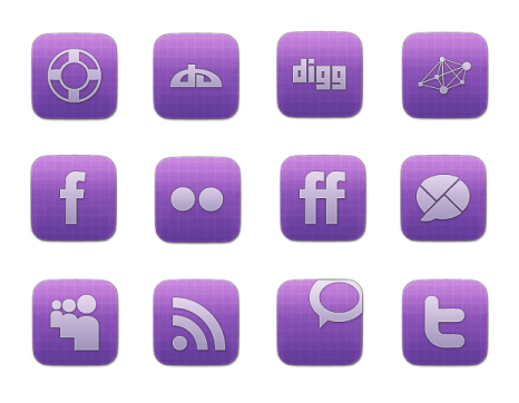 Иконки Vibrant Sophisticated Social Media Icon Set от Creative Nerds