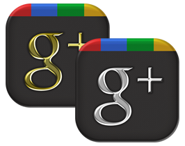Иконки Google Icons G+ Gold And Steel