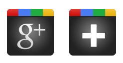 Иконки +1 And G+ Black Icons