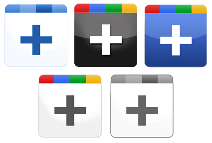 Иконки Google Plus Icon Set – в пяти вариантах