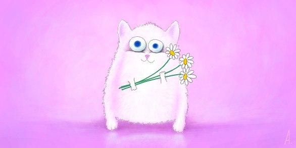 Граффити для ВКонтакте: Животные: Кошки, коты, котята Простое Граффити В Контакте Кот