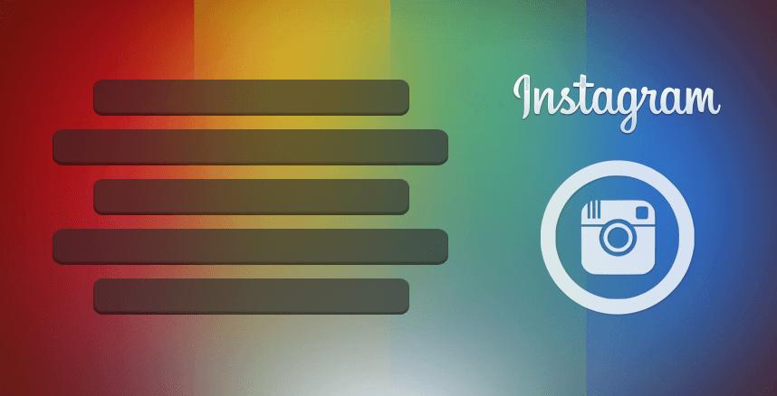 Как сделать текст по центру в информации о себе в Инстаграм